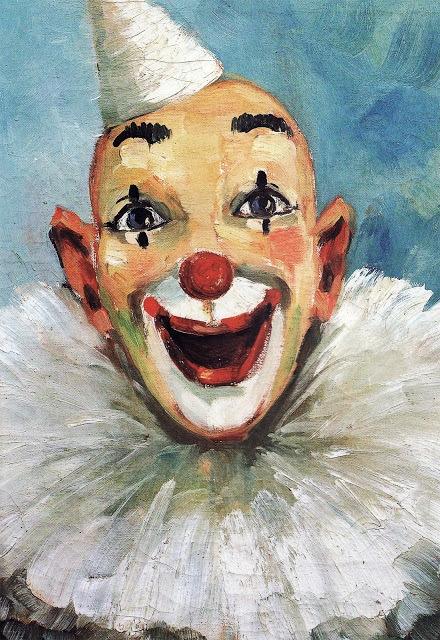 """Clown Painting"", A. Dubsky, from book titled ""Clown Paintings"", by Diane Keaton"
